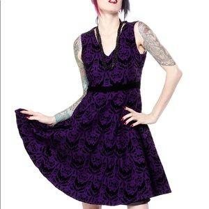 Sourpuss Spooky Damask Dress